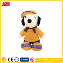 cute snoopy plush dog toy custom plush animal