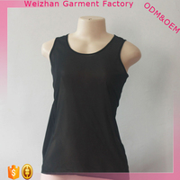 Hot Sale Lady Top Fashion Cutting Design Black Tight Sexy Lady Tube Top