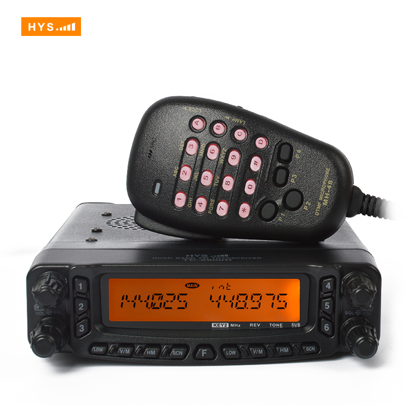 Quad Band Transceiver 10M/6M/2M/70cm HF/VHF/UHF Two Way Amateur Car Radio