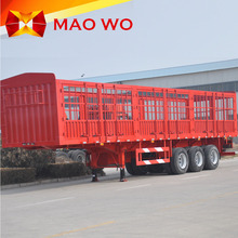 New 3 Axle 50T animal Fence Cargo Semi Trailer For Sale