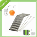 Food Grade 18 8 Tumbler Long Stainless Steel Straw For Drinking