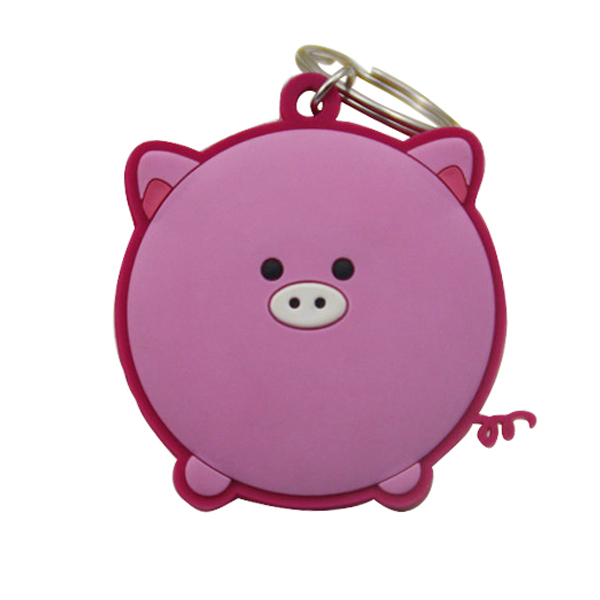 High quality cheap custom PVC pig can bottle opener