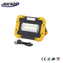 30W COB LED Work Light Floodlights Outdoor Camping Lights Spotlights Searchlight Built-in Rechargeable Lithium Batteries Lamp