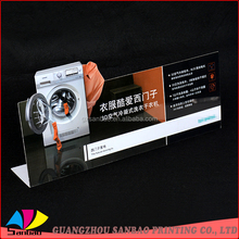 Promotional plastic material pvc billboard pop display stand