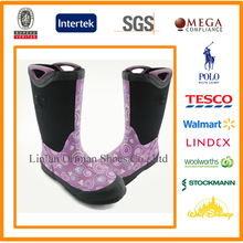 design your own high quality warm/water-proof neoprene rubber boots with handles for kids women men