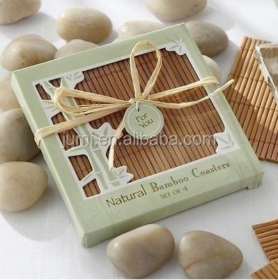 set of 4 bamboo coasters best wedding gift set