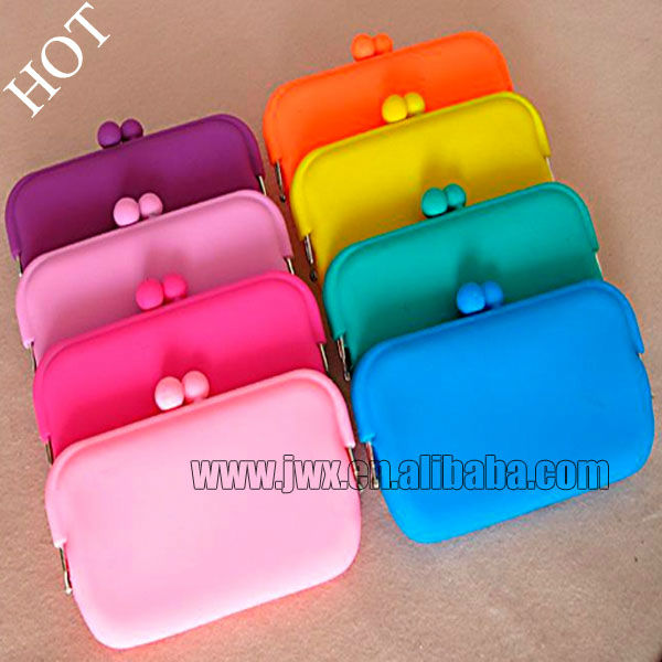 Promotional Gift .Silicone Coin Purse Silicone coin bag Mini Siliocne Wallet