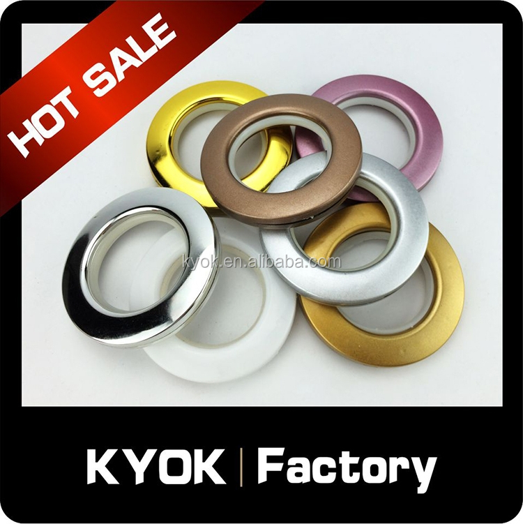KYOK curtain eyelet ring , curtain ring wholesale, curtain accessory 34mm Inner Diameter Clips Ring for Curtain