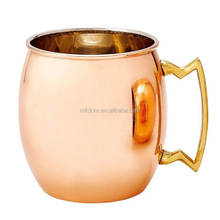 Custom Engraved Moscow Mule Hammered Copper Mugs With Riveted Handles