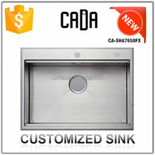 Cadia Good Sale Kitchenware Topmount Chinese Restaurant Kitchen Sink