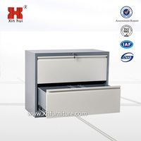 HeNan factory steel office furniture KD structure modern file cabinet metal vertical wicker storage cabinet with 2 drawers