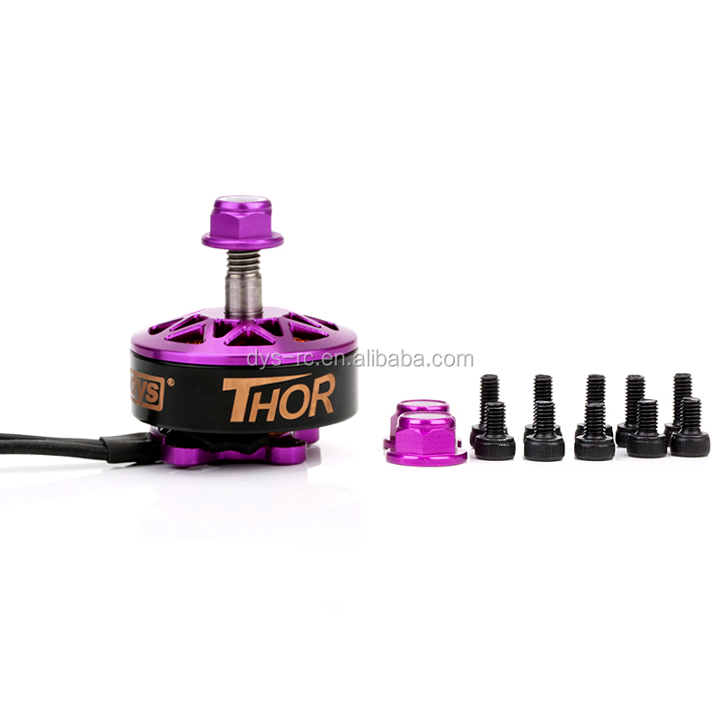 DYS high Torque powerful Thor kv2200 2500 2700 support 3-6s outrunner brushless DC motor for FPV racer