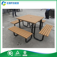 New Products 2016 Outdoor Table With Benches, Wooden Picnic Table, Cheap Plastic Garden Set