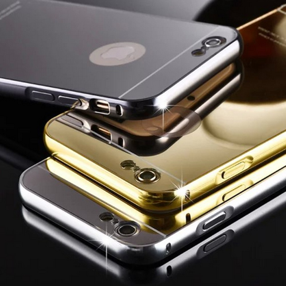 PC mirror back cover case cell phone case Aluminum metal bumper case for iphone 6