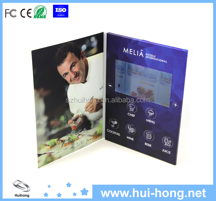 7 inch lcd video player brochure video advertising brochure