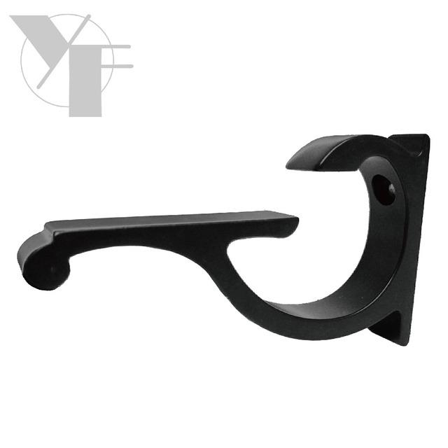 Decorative display metal wall hook shelf bracket