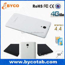 "Super slim smart mobile phone Quad core 5.5"" 4G android 4.4 handphone"
