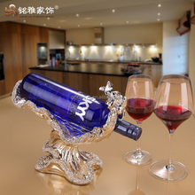 Hot selling resin small home decoration luxury high class hand painting gold resin wine rack
