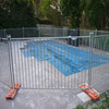 Heavy duty temporary pool fence