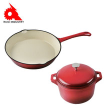 Custom enamel cast iron casting pan cast iron cookware