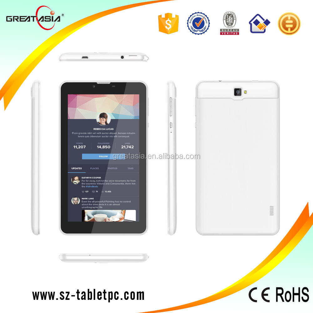 "High school students economic use 3G tablet pc with phone call function 7"" for Germany youth"