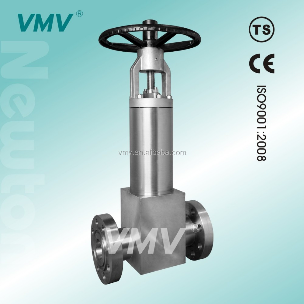 Self sealing for high pressure bellows gate valve drawing