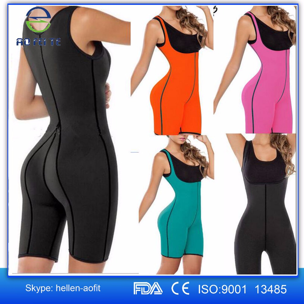 Popular Hot Sell 2016 Slimming Sweat Bodysuit Hot Neoprene Thermo Shapers for Weight Loss