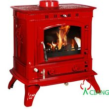 enamel cast iron coal pellet stove