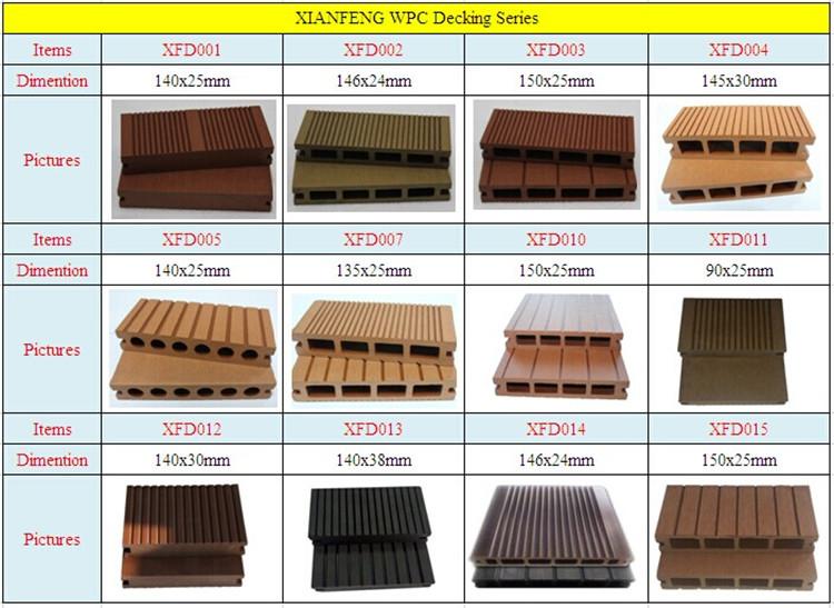Decking Board Brownish Red Color Outdoor Floor Wood