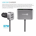 4 USB Ports Car Charger Kit HUB for Front/Back Seat +6 Feet Extension Cable + Charging Hub for iPhone,Samsung Galaxy