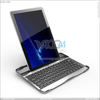 "Aluminum Wireless Bluetooth Keyboard Protector Case with Stand For for Samsung Galaxy 10.1"" Tab 2 P7510 P-SAMP7510BTHKBSO001"