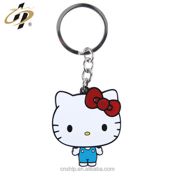Wholesale enamel metal hello kitty logo key chains