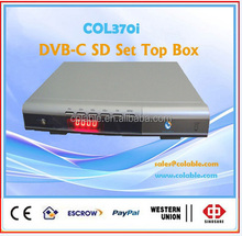 COL370i PLA/NTSC , EPG pre-viewing CATV box / cable tv DVB-C SD set top box