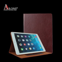Book design stand genuine leather case cover for ipad air 2