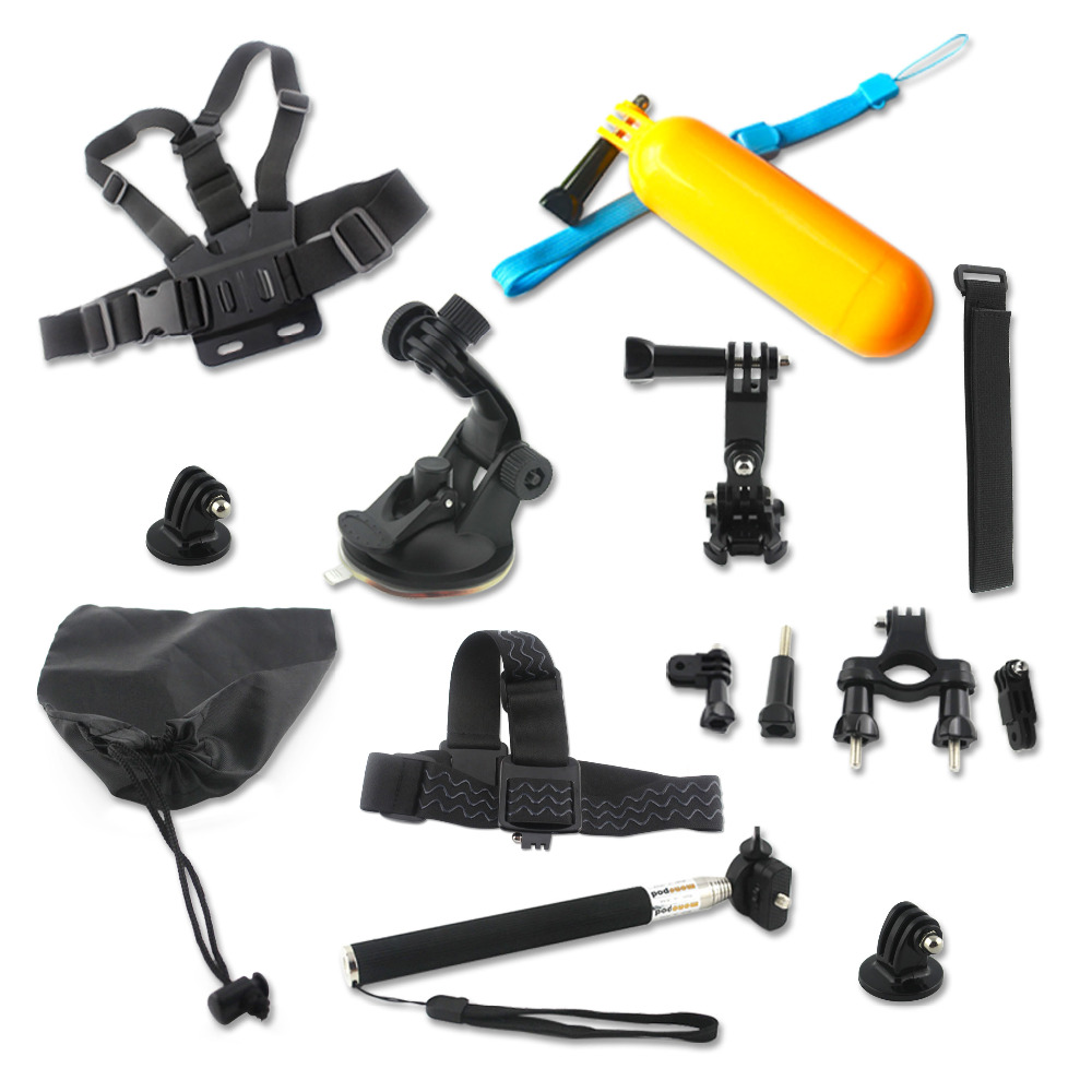 Factory Price GoPro Accessories <strong>14</strong>-in-1 GoPro accessory kit for Gopro Hero 2/3/3+/4/4 5 6 Session Camera accessory