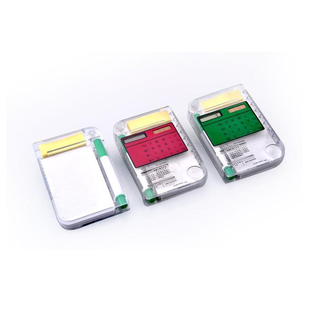 Mini Cute Solar Calculator With Pen, Promotional Pregnancy Calculator, Pocket Notebook Calculator with Multi Use