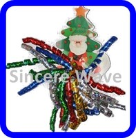 Chirstmas Man Metallic Curly Ribbon Bow for Party Decoration /Gift Package
