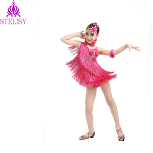 Hot selling girls tassel latin dance wear RH19