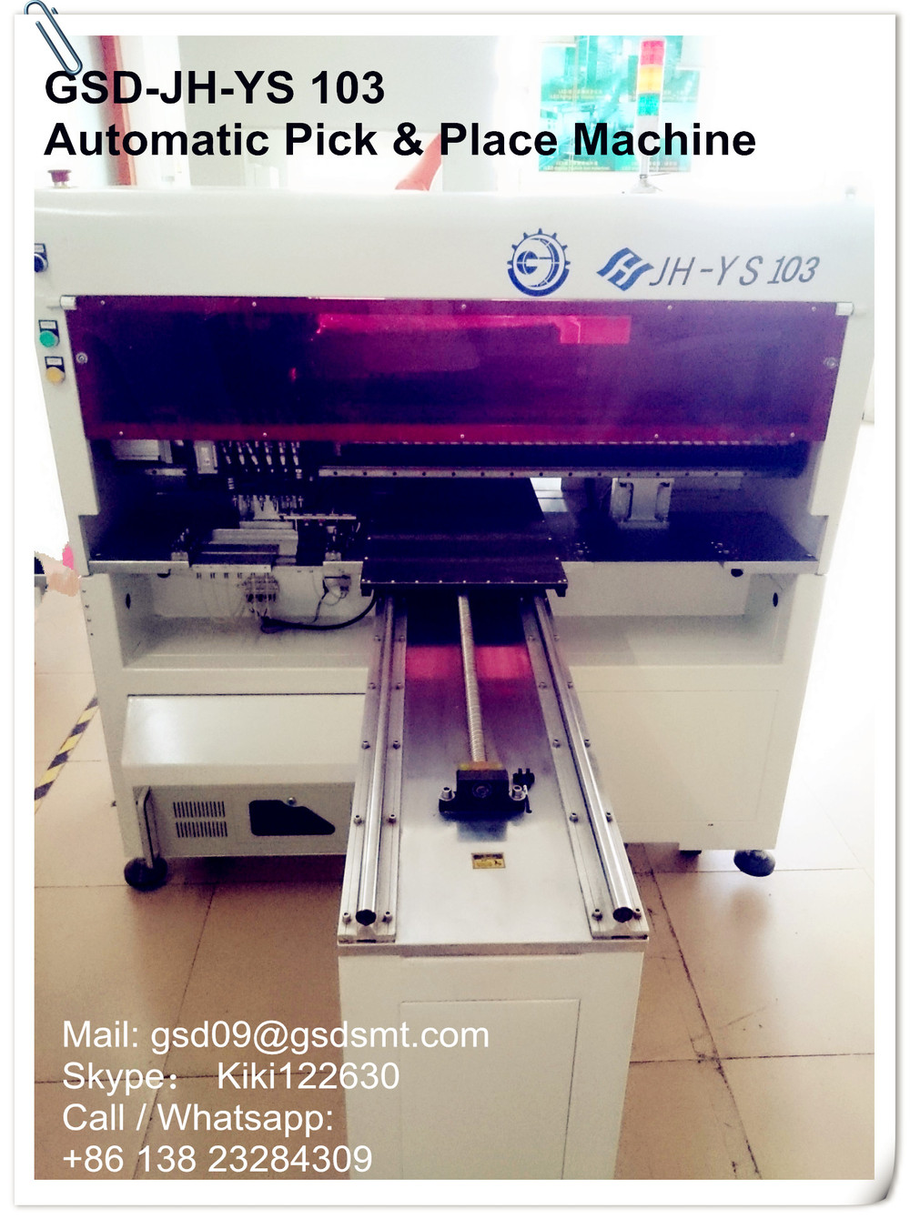 GSD-JH YS 103 smt pick and place machine ,special made for led light making , high speed full automatic