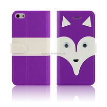 new products 2014 animal design leather case for iphone 5