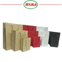 2016 HSMA popular simple kraft paper gift packaging shopping kraft paper gift bag