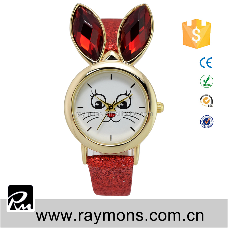 Own Designing Changeabl Fashion Colorful Customized Logo With HandMade Stainless Steel Case Kids Cat Promotional Vogue Watch
