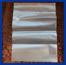 4mil LDPE material ziplock bag with recycled logo