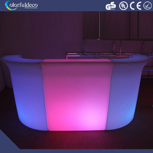 Nightclub decoration furniture illuminated lighted mobile mini portable cheap bar counter