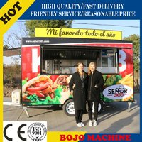 FV-40 High quality customized-on-demand fiberglass mobile BBQ food truck for sale