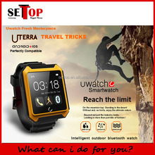 2016 new design U TERRA IP68 waterproof smart watch for android and IOS
