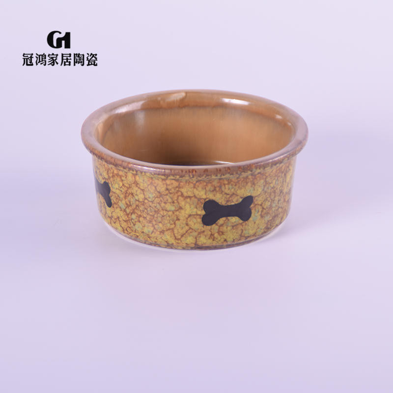Ceramic pet bowls,ceramic cute dog bowls,Brown dog food bowl,Hot Sales