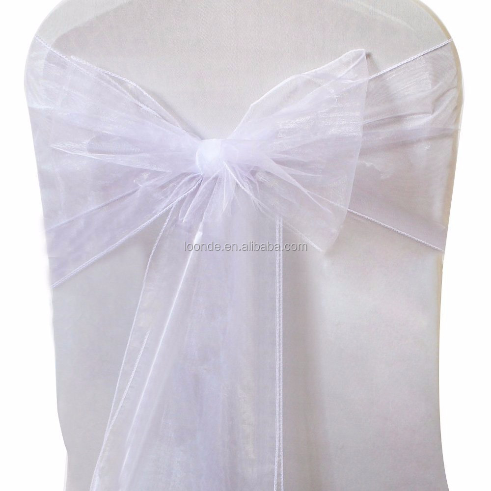 Beautiful organza chair sashes bows for wedding or banquet