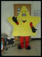 yellow star custom mascot costumes