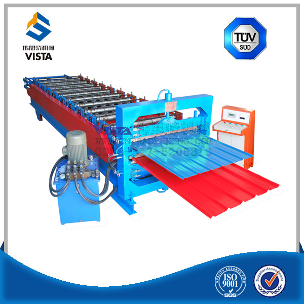 trapezoidal sheet and corrugated sheet double layer cold roll forming machines